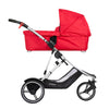 Phil&teds Dash Snug Carrycot in Red on Dash stroller