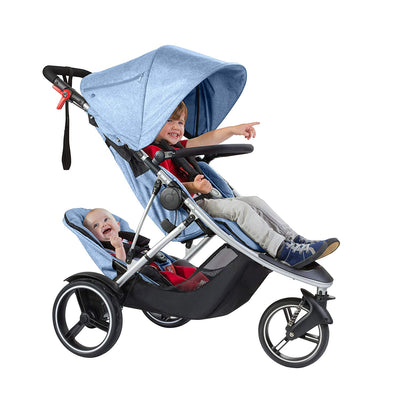 Phil&teds Dash Stroller + Double Kit in Blue Marl