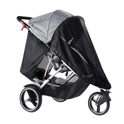 Phil&teds Dash Stroller + Double Kit in Grey Marl with sun mesh