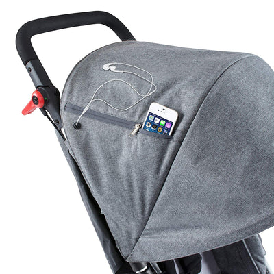 Phil&teds Dash Stroller in Grey Marl hood