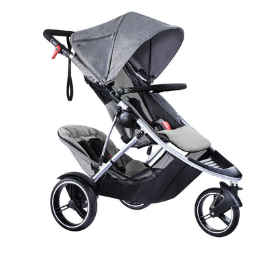 Phil&teds Dash Stroller + Double Kit in Grey Marl