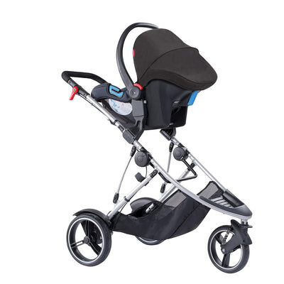 Phil&teds Dash Stroller with infant car seat attached