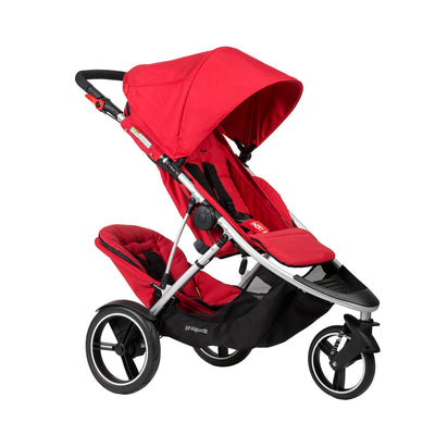 Phil&teds Dash Stroller + Double Kit in Red