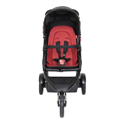 Phil&teds Dot 2019 Stroller in Chilli front view