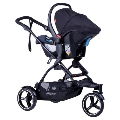 Phil&teds Dot Stroller with infant car seat attached