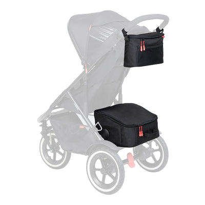Phil&teds Igloo Inline® Storage attached to stroller