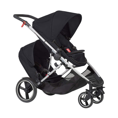 Phil&teds Voyager Stroller + Double Kit in Black