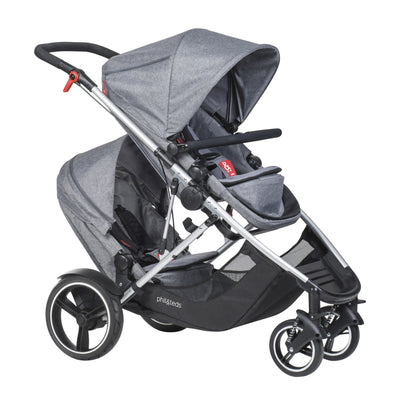 Phil&teds Voyager Stroller + Double Kit in Grey Marl