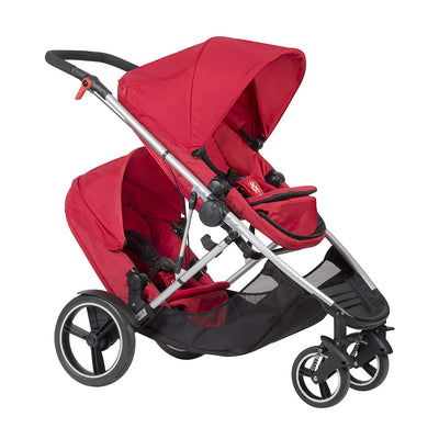Phil&teds Voyager Stroller + Double Kit in Red
