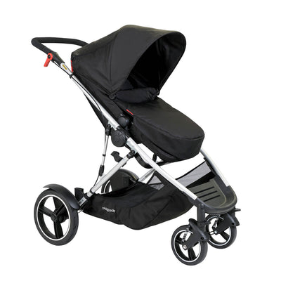 Phil&teds Voyager Stroller in Black with footmuff