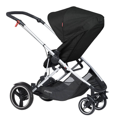 Phil&teds Voyager Stroller in Black with seat reversed