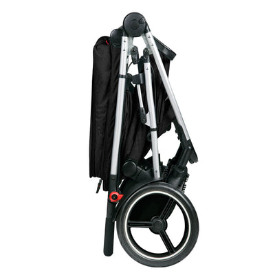 Phil&teds Voyager Stroller in Black  folded
