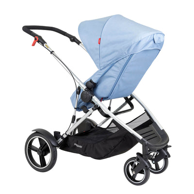 Phil&teds Voyager Stroller in Blue Marl with seat reversed