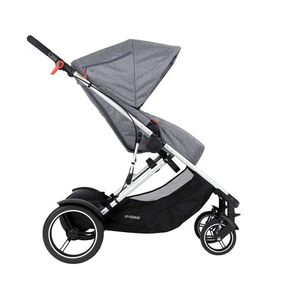 Phil&teds Voyager Stroller in Grey Marl side view