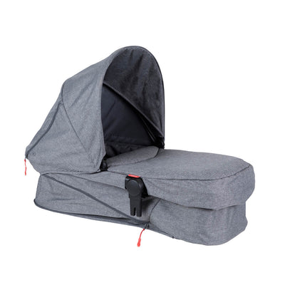 Phil&teds Voyager Stroller Bassinet in Grey Marl