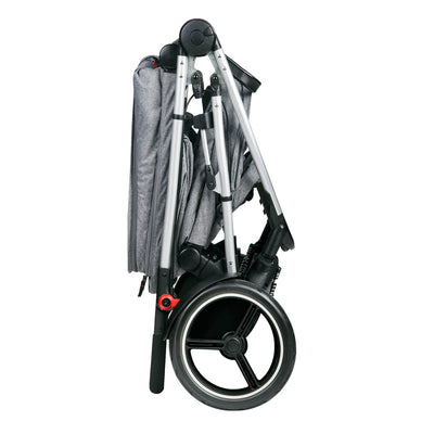 Phil&teds Voyager Stroller in Grey Marl folded
