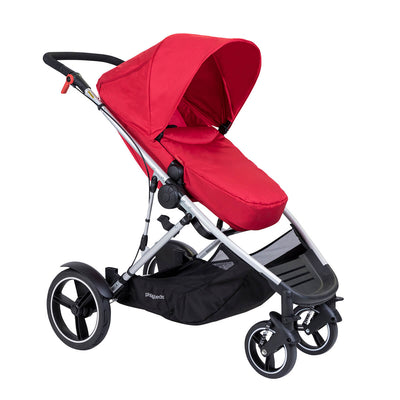Phil&teds Voyager Stroller in Red with footmuff