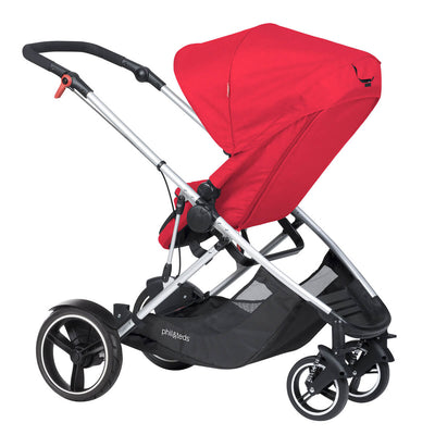 Phil&teds Voyager Stroller in Red with seat reversed