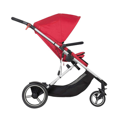 Phil&teds Voyager Stroller in Red side view