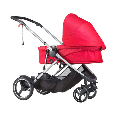 Phil&teds Voyager Stroller in Red with bassinet