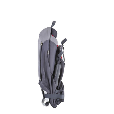 Phil&teds Escape Backpack Baby Carrier in Charcoal Grey folded