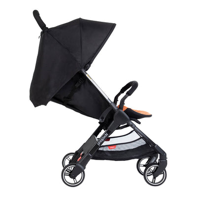 Phil&teds GO™ Lightweight Stroller in Rust side view with seat reclined