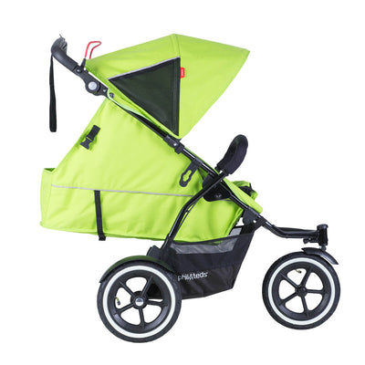 Phil&teds Sport Stroller in Apple reclined