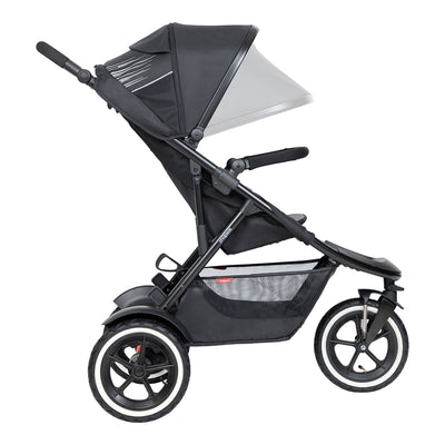 Phil&teds Sport 2019 Stroller side view with canopy extending