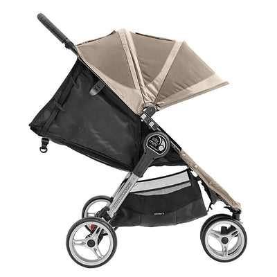 Baby Jogger City Mini® Stroller in Sand/Stone side view and reclined