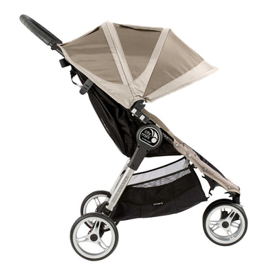Baby Jogger City Mini® Stroller in Sand/Stone side view