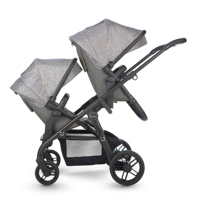 Silver Cross Coast Double Stroller in Limestone