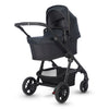 Silver Cross Coast Stroller in Flint with bassinet