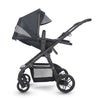 Silver Cross Coast Stroller in Flint side view and reclining
