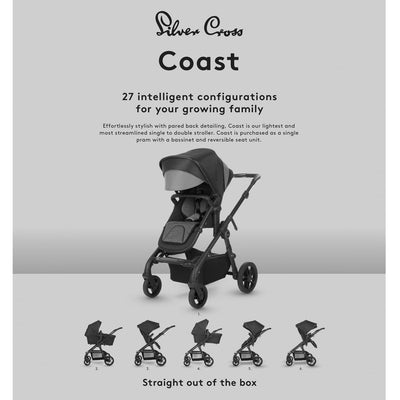 Silver Cross Coast Stroller configurations