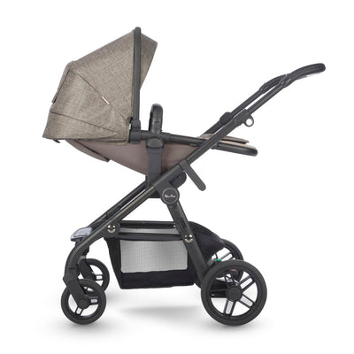 Silver Cross Coast Stroller in Tundra side view and reclining