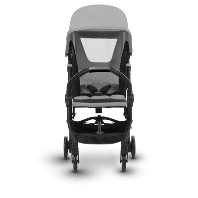 Silver Cross Jet Ultra Compact Stroller in Sterling reclining with mesh vent open