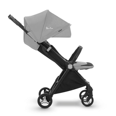 Silver Cross Jet Ultra Compact Stroller in Sterling side view
