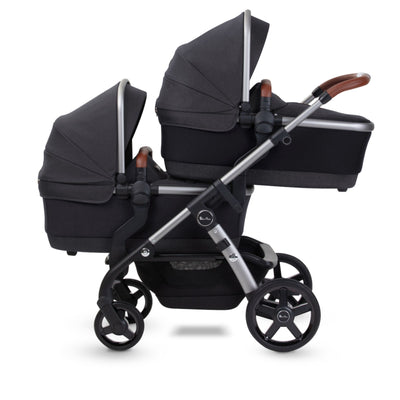 Silver Cross Wave 2021 Stroller Bassinet in Charcoal on stroller