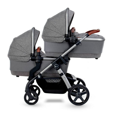 Silver Cross Wave 2021 Stroller Bassinet in Zinc on stroller