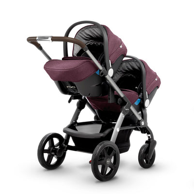 Silver Cross Wave Stroller with Two Infant Car Seats