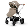 Silver Cross Wave Stroller in Linen with footmuff