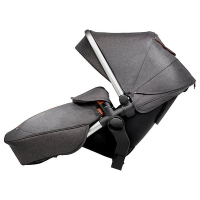 Silver Cross Wave Stroller Tandem Second Seat in Granite side view