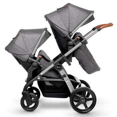 Silver Cross Wave Stroller Tandem Second Seat in Granite on Wave Stroller