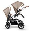 Silver Cross Wave Stroller in Linen with two seats