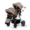 Silver Cross Wave Stroller + Tandem Second Seat in Linen