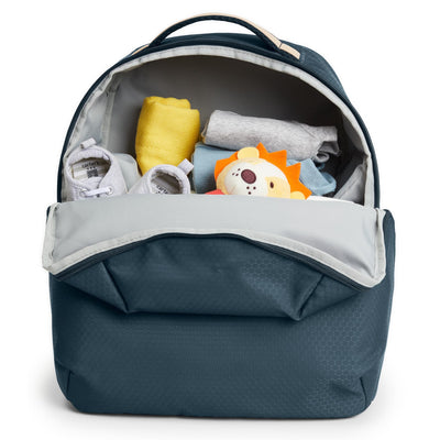 Skip Hop Go Envi Eco-Friendly Diaper Backpack filled with things