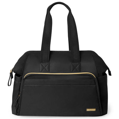 Skip Hop Mainframe Wide Open Diaper Satchel in Black