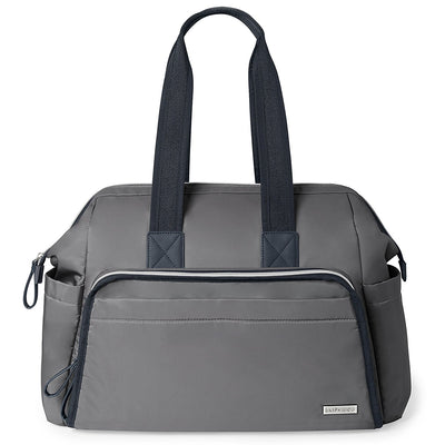 Skip Hop Mainframe Wide Open Diaper Satchel in Slate