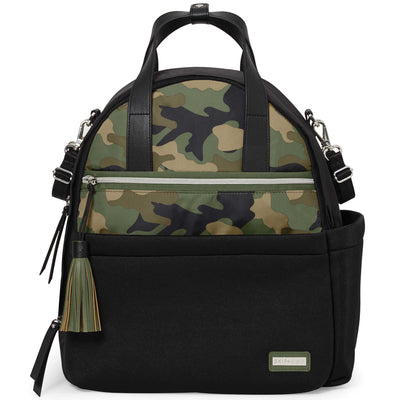 Skip Hop Nolita Neoprene Diaper Backpack in Black and Camo