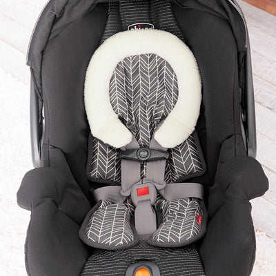 car seat with Skip Hop Stroll & Go Cool Touch Infant Support in Grey Feather
